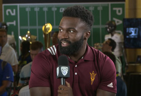 2019 Pac-12 Football Media Day: Arizona State's Eno Benjamin discusses how he's shaped his playing style