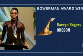 2017 Bowerman Award winner Oregon's Raevyn Rogers