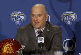 USC's Clay Helton on selfless mindset: 'It's about playing for your brother'