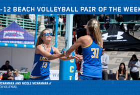 Megan and Nicole McNamara are named Pac-12 Beach Volleyball Pair of the Week