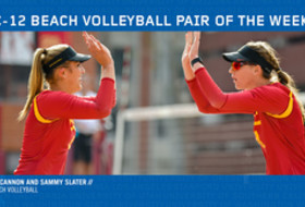 USC's Terese Cannon and Sammy Slater named Pac-12 Beach Volleyball Pair of the Week.
