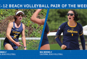 California's Alexia Inman and Mia Merino were voted Pac-12 Beach Volleyball Pair of the Week.