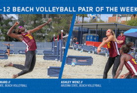 Pac-12 Beach Volleyball Pair of the Week from Arizona State - Aluoma Okaro and Ashley Wenz
