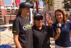 """2019 Pac-12 Beach Volleyball Championship: USC's Anna Collier on confidence in pair Terese Cannon, Sammy Slater: """"'When it came down to them I was like, 'We're in, where's the trophy'"""""""