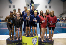 California leads after day one of the Pac-12 Women's Swimming & Diving/Men's Diving Championships