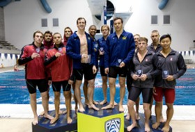 California's relay vaults Bears into the lead at the Pac-12 Men's Swimming Championships