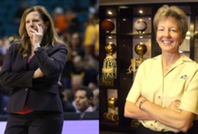 2019 Pac-12 Women's Basketball Tournament: Cori Close thanks former Colorado head coach Ceal Barry for her contributions to women's basketball