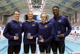 2019 Pac-12 Men's Swimming Championships: California opens up men's swimming championships with 200-yard medley relay title win