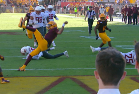 Highlight: ASU quarterback Jayden Daniels scores incredible last-minute touchdown to seal win over WSU