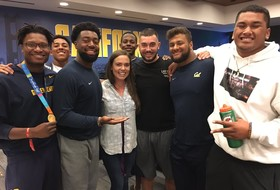 Roundup: Natalie Coughlin speaks to Cal football team