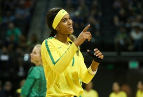 Recap: No. 12 Oregon women's volleyball opens Pac-12 play with Civil War win