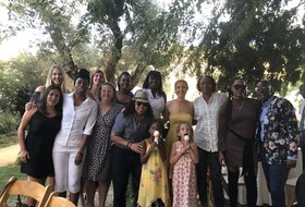 2018 Pac-12 Women's Basketball Media Day: Entire Cal team celebrates at Lindsay Gottlieb's wedding