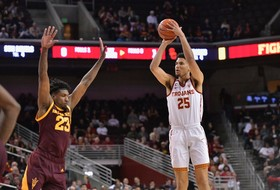 Highlights: Bennie Boatwright's late 3-pointer lifts USC men's basketball past Arizona State