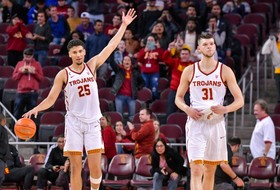 Highlights: Nick Rakocevic's eighth double-double of the season pushes USC men's basketball past UCLA to snap four-game skid to Bruins