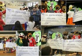 Pac-12 and CFP Foundation's Extra Yard for Teachers award over $36,000 to 12 teachers across San Jose area