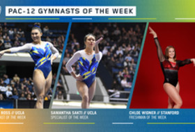 UCLA's Ross, Sakti and Stanford's Widner capture this week's Pac-12 gymnast of the week awards