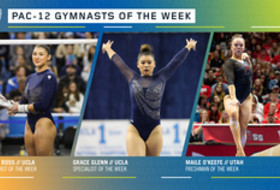 UCLA's Ross, Glenn, and Utah's O'Keefe earn the Pac-12 gymnasts of the week awards