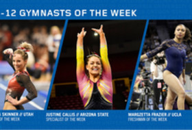 UTAH's Skinner, ASU's Callis and UCLA's Frazier capture this week's Pac-12 gymnast of the week awards