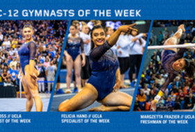 UCLA sweeps this week's gymnasts of the week behind Ross' perfect 10