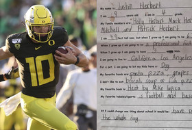 Roundup: Justin Herbert adorably foreshadowed his future NFL franchise as a 9-year-old