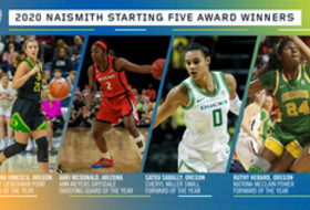 Four Pac-12 women's basketball student-athletes named Naismith Starting Five winners