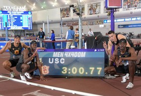 Highlight: USC's 4x400m relay team sets world record at NCAA Indoor Track & Field Championships