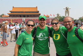 Oregon women's soccer lands in Beijing to start China tour