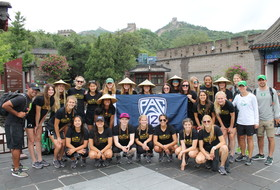 Oregon soccer visits the Great Wall of China to conclude China tour