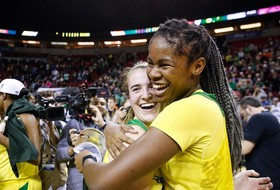 "Oregon women's basketball icons Sabrina Ionescu and Ruthy Hebard star in ""Our Stories: Unfinished Business,"" presented by Opus Bank, premiering tomorrow at 7 p.m. PT / 8 p.m. MT on Pac-12 Network"