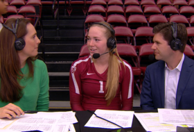 Stanford setter Jenna Gray talks competition on the court in Pac-12 play, and off the court with her love for cats