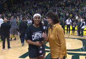 Oregon women's basketball's Minyon Moore: 'I'm finally a Pac-12 Champion!'
