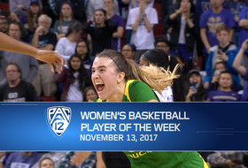 Oregon's Sabrina Ionescu, one triple-double shy of Pac-12 record, named Pac-12 women's basketball Player of the Week