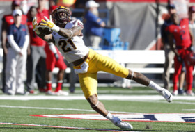 ASU receiver Jaelen Strong one-hands a catch against Arizona