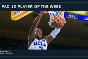 UCLA's Holiday collects second Pac-12 Men's Basketball Player of the Week
