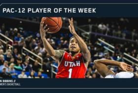Utah's Bibbins voted Pac-12 Men's Basketball Player of the Week