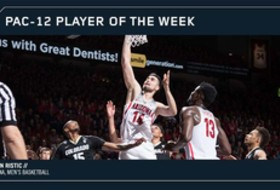 Arizona's Ristic voted Pac-12 Men's Basketball Player of the Week