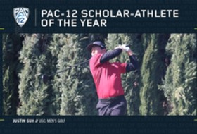 USC's Suh named Pac-12 Men's Golf Scholar-Athlete of the Year
