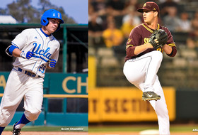 Ty Moore and Brett Lilek were named the Pac-12 player and pitcher of the week