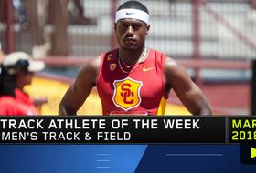 USC's Ricky Morgan Jr. wins Pac-12 Men's Track Athlete of the Week award