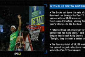 Michelle Smith WBB Feature: Ducks earn celebration with impressive performance in Las Vegas