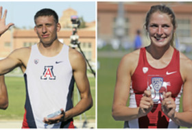 Arizona's Pau Tonnessen and Washington State's Alissa Brooks-Johnson won the multis titles at the Pac-12 Men's and Women's Track & Field Championships.