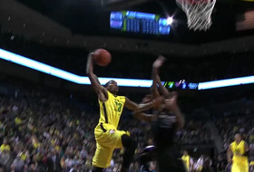 Friday's dunk of the night: Carlos Emory reverse alley-oop