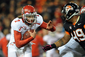 <p>CORVALLIS, OR - OCTOBER 20: in the third quarter of the game on October 20, 2012 at Reser Stadium in Corvallis, Oregon. The Beavers won the game 21-7. (Photo by Steve Dykes/Getty Images) *** Local Caption *** Storm Woods</p>
