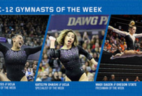 UCLA's Ohashi, Ross and Oregon State's Dagen earn this week's Pac-12 gymnast of the week awards