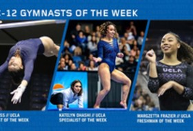 UCLA's Ross, Ohashi, and Frazier sweep this week's Pac-12 gymnastics honors
