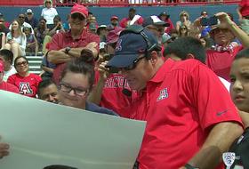 Video: Birthday girl calls a scoring play in Arizona football spring game