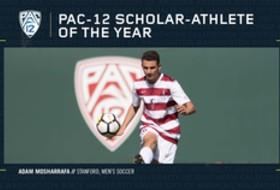 Stanford's Mosharrafa named Pac-12 Men's Soccer Scholar-Athlete of the Year