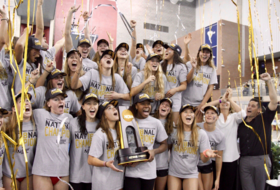 Swimming in trophies -- Stanford put on a dominant performance from start to finish to claim its second consecutive NCAA title.