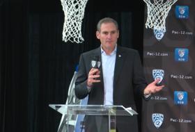 2018 Pac-12 Women's Basketball Media Day: Pac-12 Commissioner Larry Scott