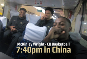 McKinley Wright IV, Colorado men's hoops arrive in Shanghai
